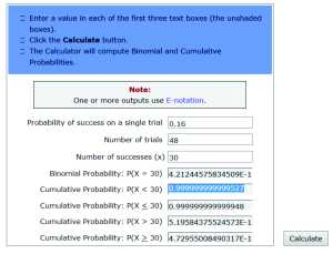 Binomial Calc